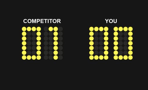 Scoreboard: Competitor 1, You 0